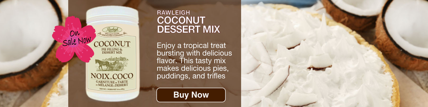 Coconut dessert mix
