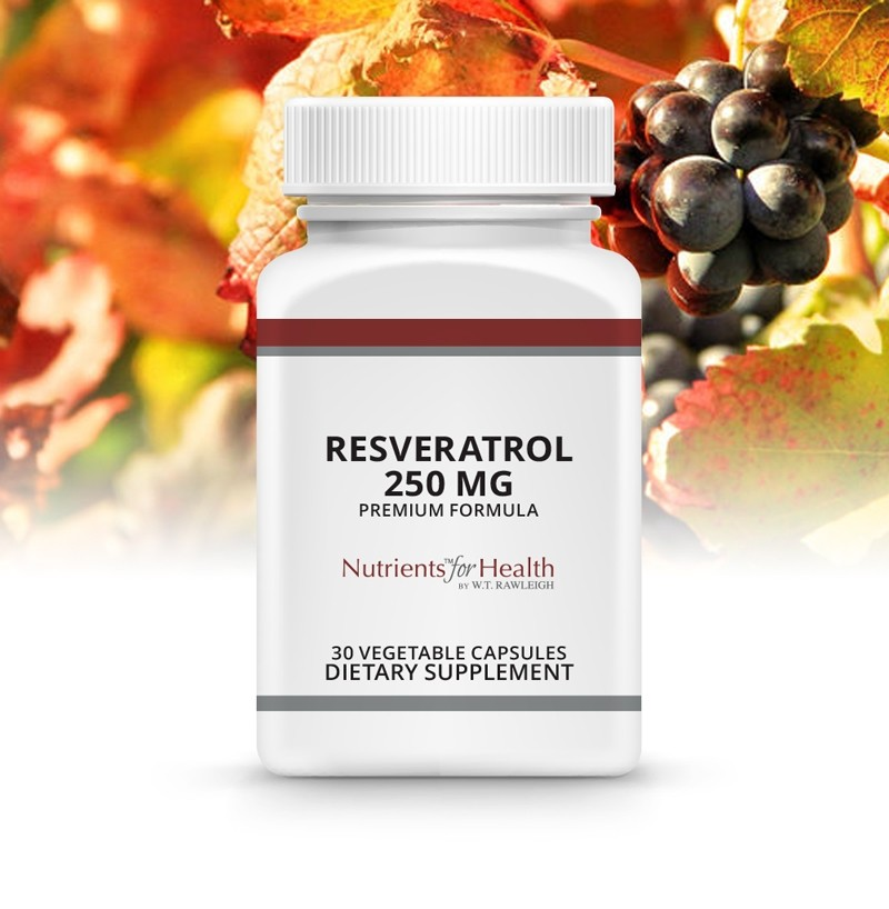 Resveratrol 250mg: 30 Vegetable capsules