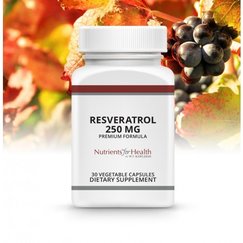 Resveratrol 250mg: 30 Vegetable capsules
