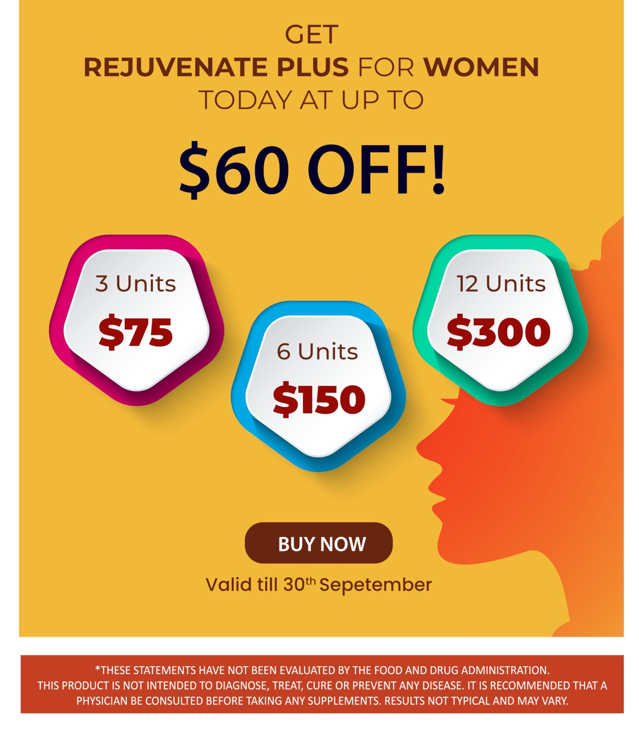 Up to 60$ Off Of Rejuvenate Plus for Women!